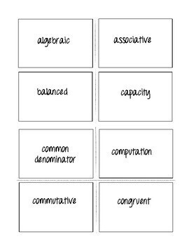 Essential Math Terms for State Tests with Flash Cards - TEST PREP