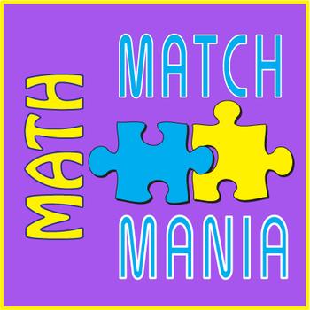 Math Terms Matching ~FUN Sheet~ Match Mania