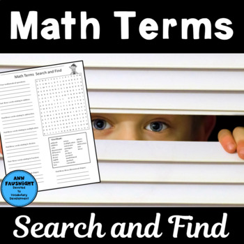 Math Terms Word Search