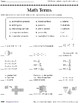 Math Terms (Take It to Your Seat Centers Common Core Math)
