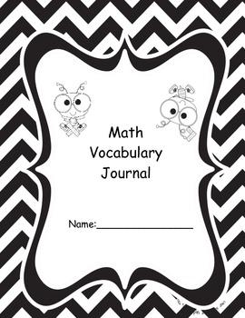 Math Terms Vocabulary Journal