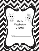 Math Terms Vocabulary Journal