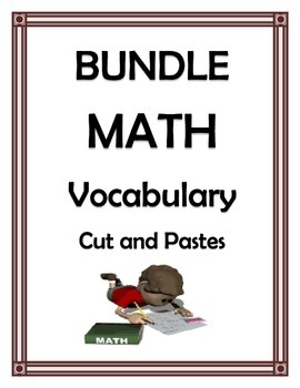 MATH VOCABULARY SUPER BUNDLE