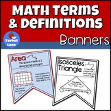 Math Terms with Definitions Math Posters
