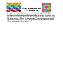 Math Tessellation Art Assignment