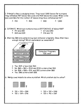 Math Test- Addition and Subtraction