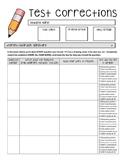 Math Test Correction Retake Form