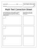 Math Test Correction Sheet/Error Analysis