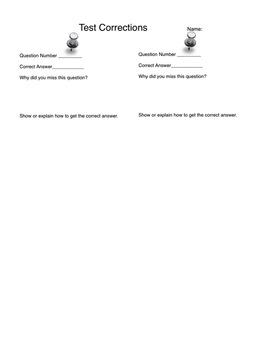 Math Test Corrections 1