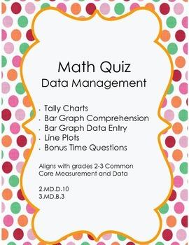 Grades 2/3 Math Test: Data Management