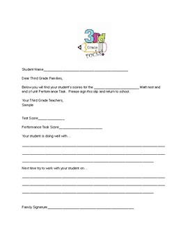 Math Test Family Engagement Form