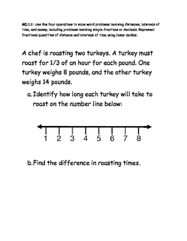 Math Test Item Spec Questions - MAFS.4.MD.1.2