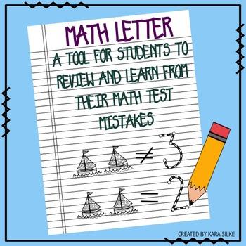 Math Test Letter