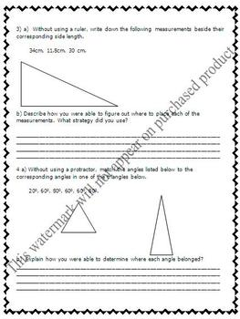 Math Test - Measurement, 2D Geometry, Angles & Polygons  - EDITABLE