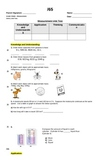 Math Test Measurement (units of measure, volume, elapsed time, money) grade 5