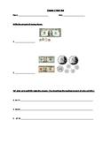 Math Test-Money 4th Grade