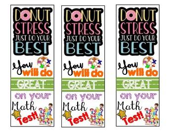 Math Test Motivation Bookmark