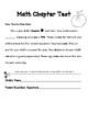 Math Test Parent Letter
