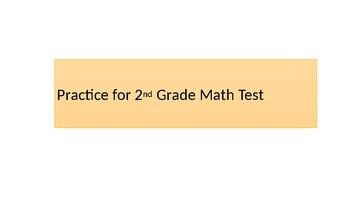 Math Test Practice Powerpoint