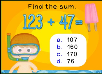 Math Test Practice Promethean ActivInspire Flipchart Lesson