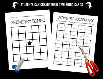 Math Test Prep 3rd Grade Vocabulary Bingo