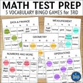 Math Test Prep 3rd Grade Vocabulary Bingo
