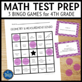 Math Test Prep 4th Grade Vocabulary Bingo