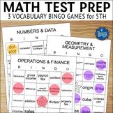 Math Test Prep 5th Grade Vocabulary Bingo