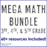 Math Center Games, Test Prep, or Activities: Magic Square Puzzle BUNDLE