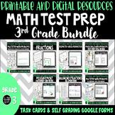 Math Test Prep Task Cards Bundle for 3rd Grade