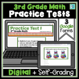 Math Test Prep Self-Checking for Google Classroom Distance