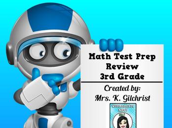 Math Test Prep 3rd Grade Promethean ActivInspire Flipchart Lesson