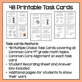 End of Year Review BUNDLE - 4th Grade Math