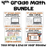 4th Grade Math Review and Test Prep BUNDLE