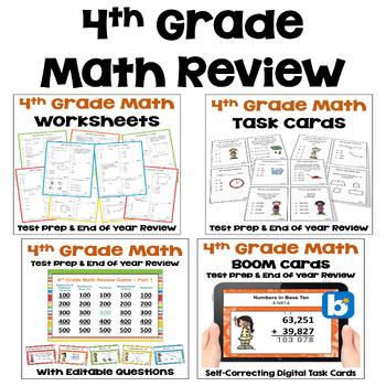 Math Test Prep BUNDLE 4th Grade Math Review