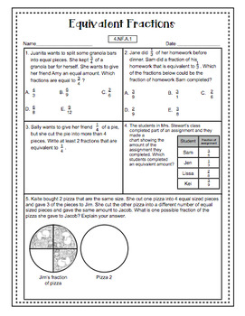 Math Test Prep (4th Grade Common Core) Number and Operations - Fractions