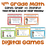 Math Test Prep 4th Grade Digital Review Games - Similar to