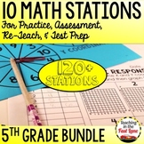 5th Grade Math Stations Bundle