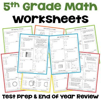 5th Grade Math Test Prep