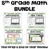 5th Grade Math Review and Test Prep BUNDLE