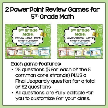 End of Year Review - 5th Grade Math BUNDLE