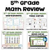 Math Test Prep BUNDLE 5th Grade Math Review