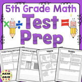 5th Grade Math Test Prep - All Standards Mega Bundle