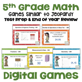 End of Year Review - 5th Grade Math Games