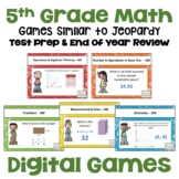 5th Grade Math Review and Test Prep Games