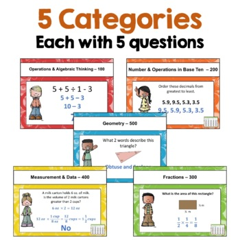 Math Test Prep 5th Grade Review Games