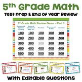 Math Test Prep 5th Grade Digital Review Games - Similar to