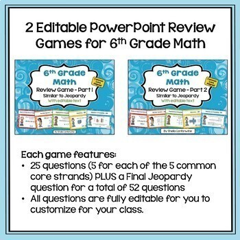 Math Test Prep and Review BUNDLE for 6th Grade