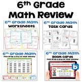 Math Test Prep BUNDLE 6th Grade Math Review