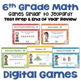 Math Test Prep and Review Games for 6th Grade